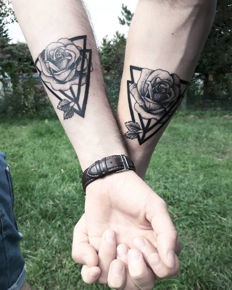 c3c6413a7 30 Couple Tattoos to Pick From, If You Have Found The One - DOPEWOPE