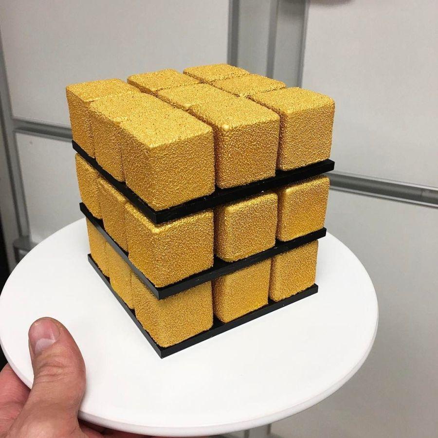 Rubik Cube Cakes