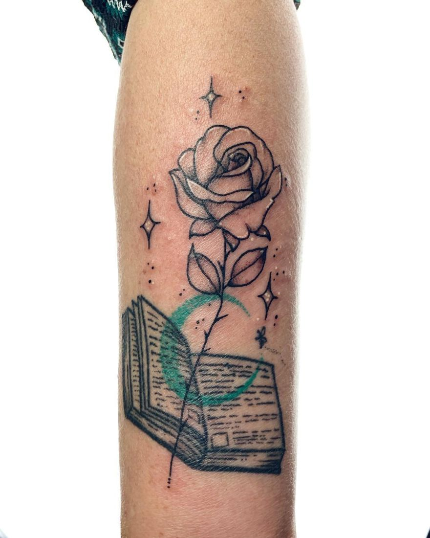 book inspired tattoo