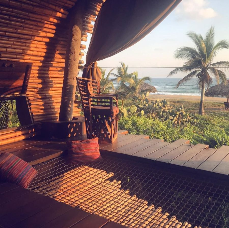 tree-house hotel at Playa Viva
