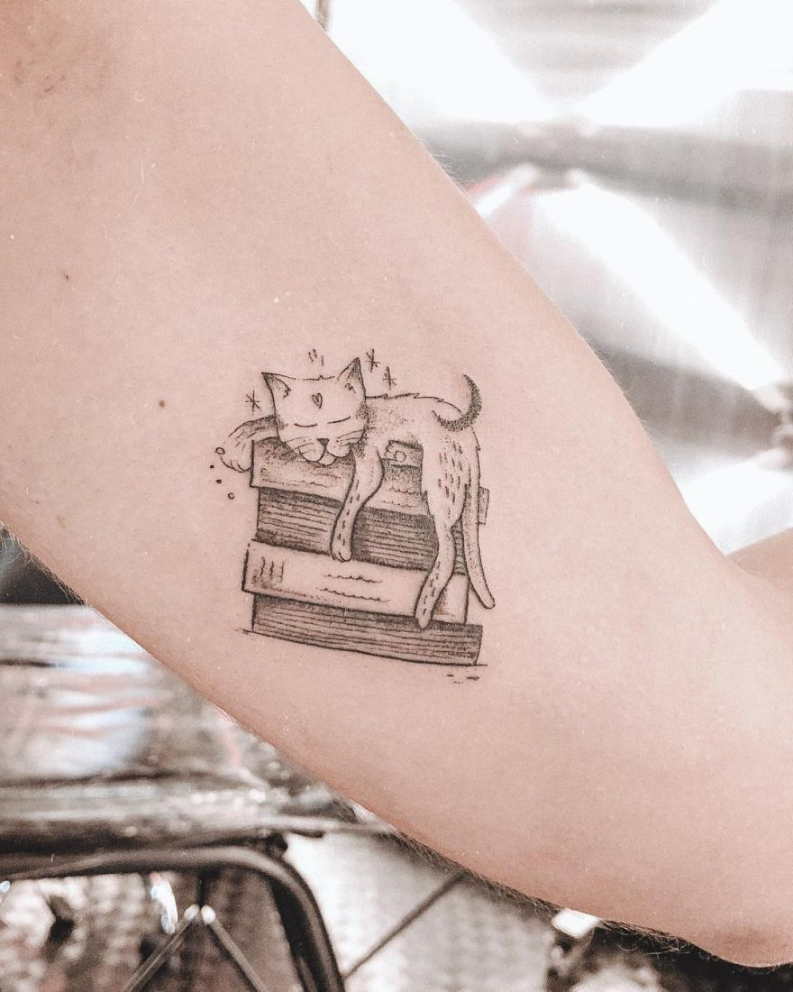 illustrative book tattoos