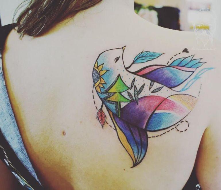 birdie tattoo