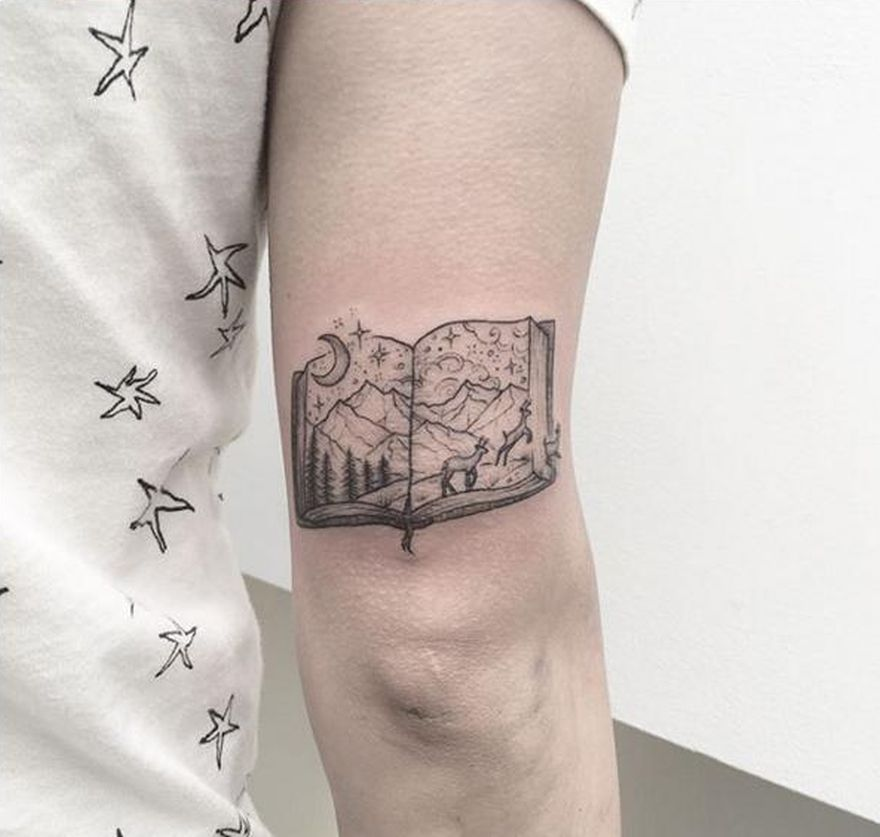 Tattoo Woman Reading: Awe-inspiring Book Tattoos For Literature Lovers