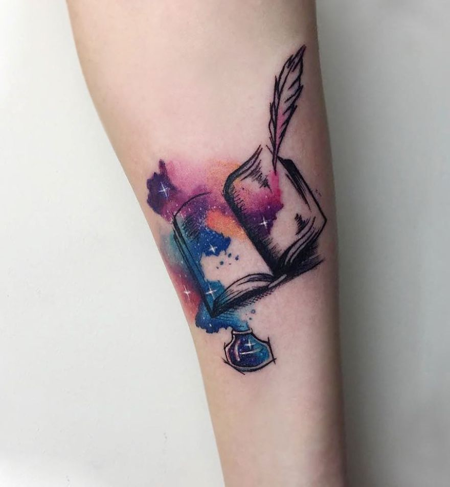 galaxy book tattoo