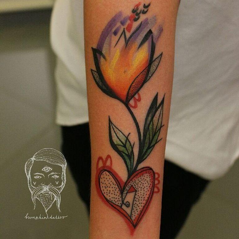 illustrative colorful tattoo