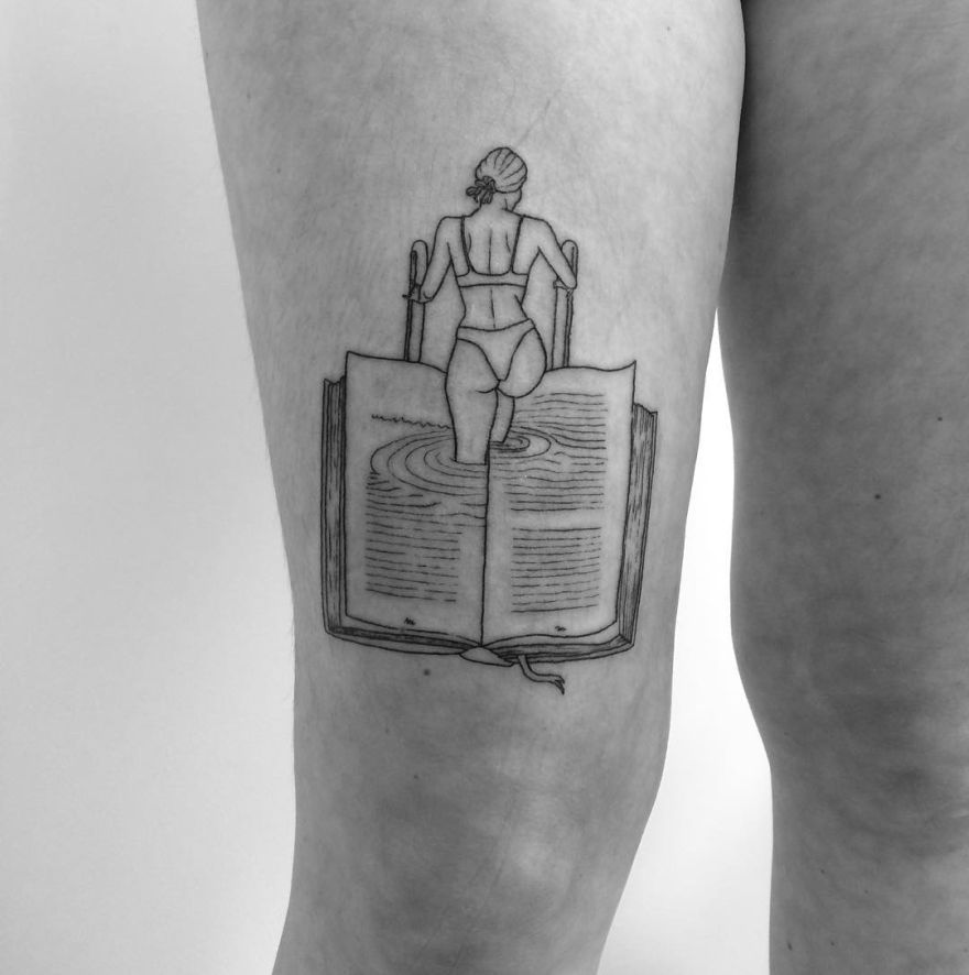 awesome book tattoos