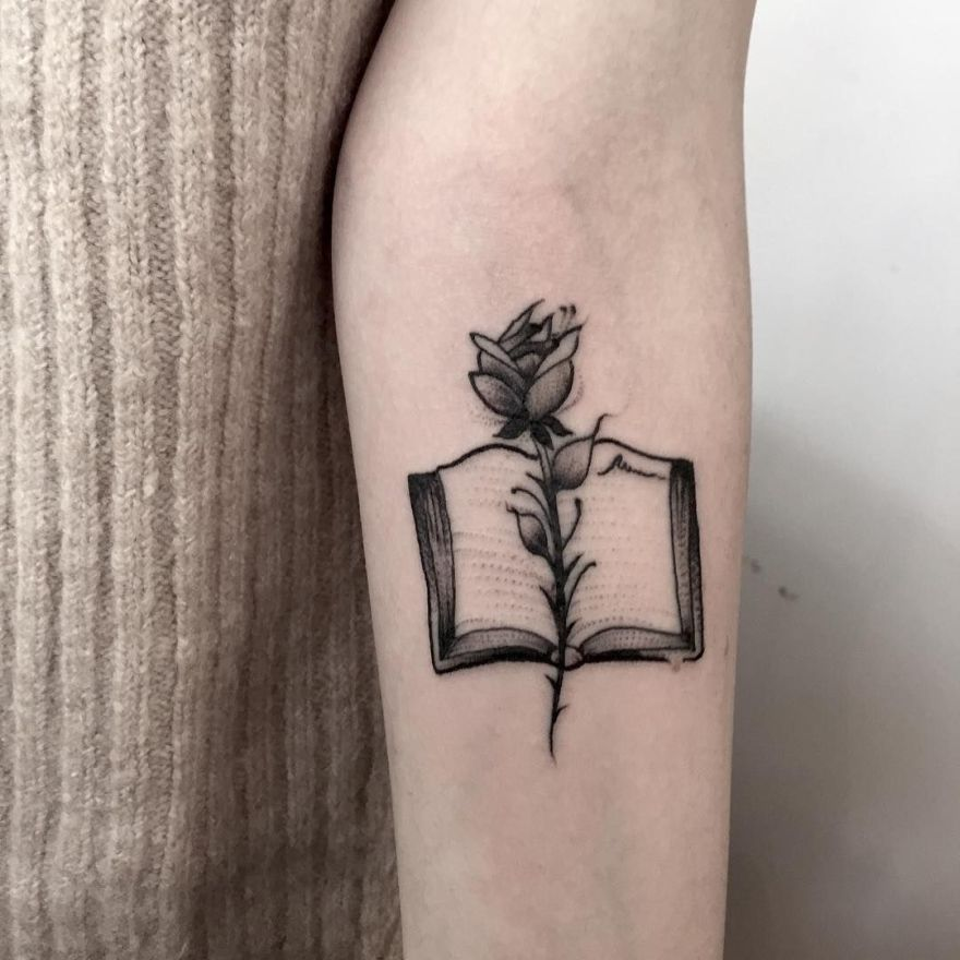 tattoos for book lovers