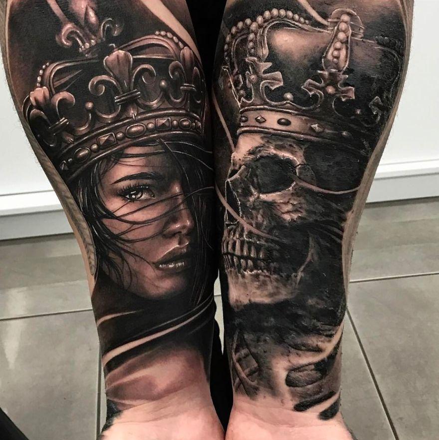 hyper-realistic tattoo