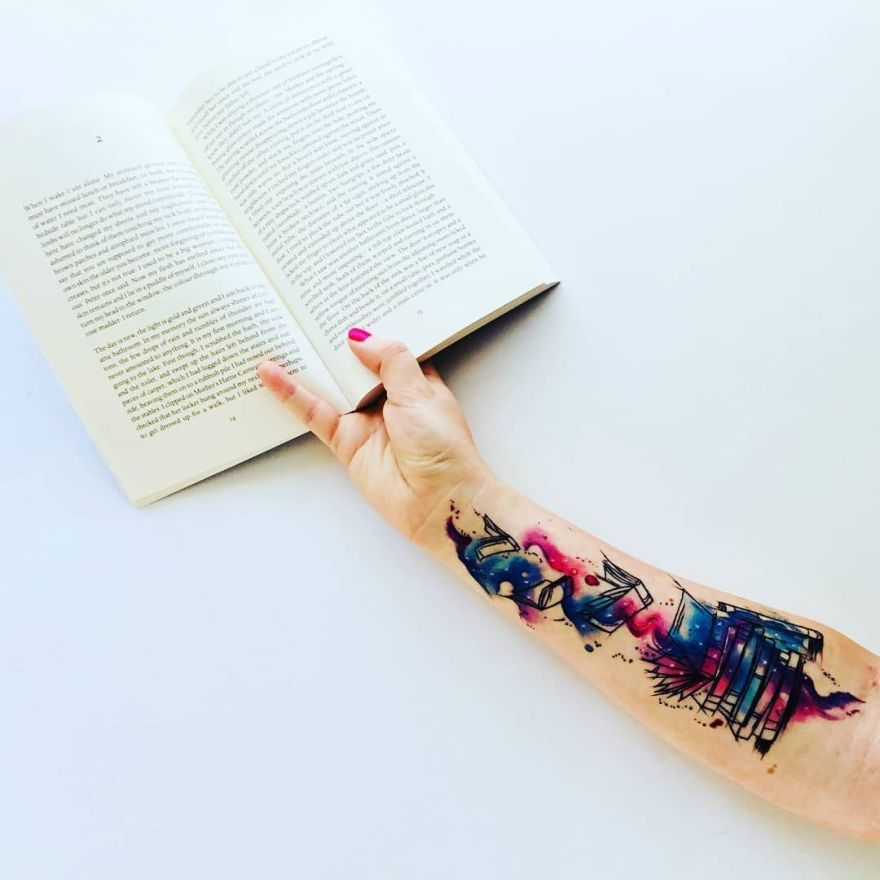 book tattoos for book worms