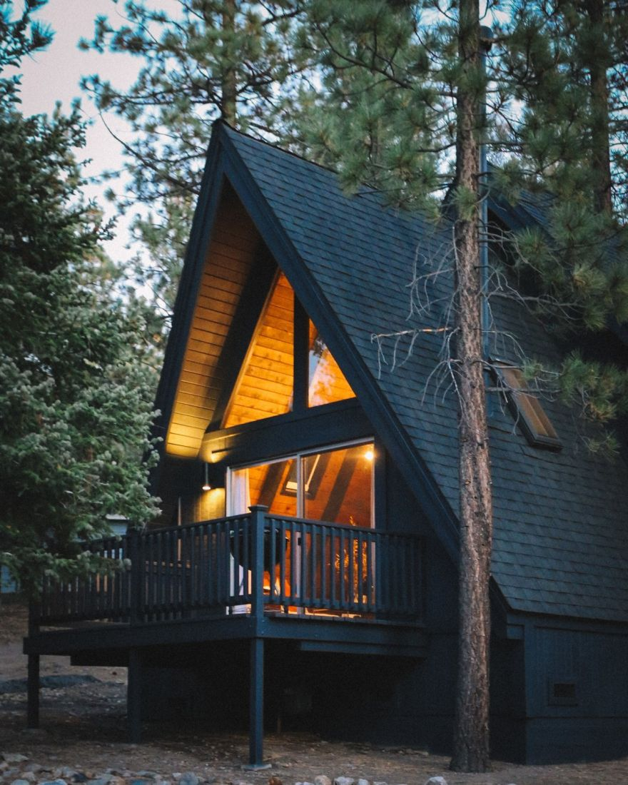 A frame cabin a modern makeover 1a kickass things for Modern a frame cabin
