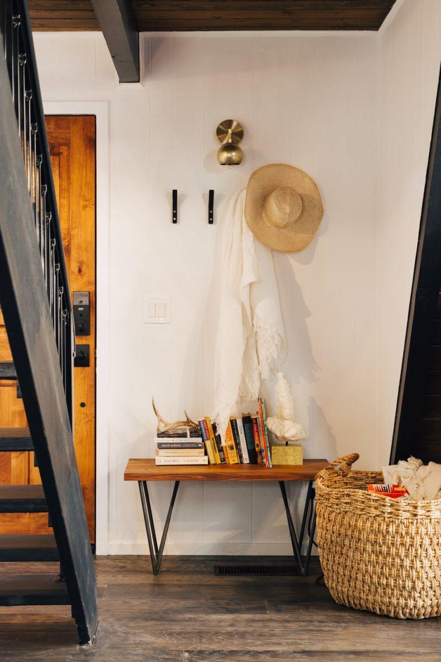 contemporary A-frame cabin