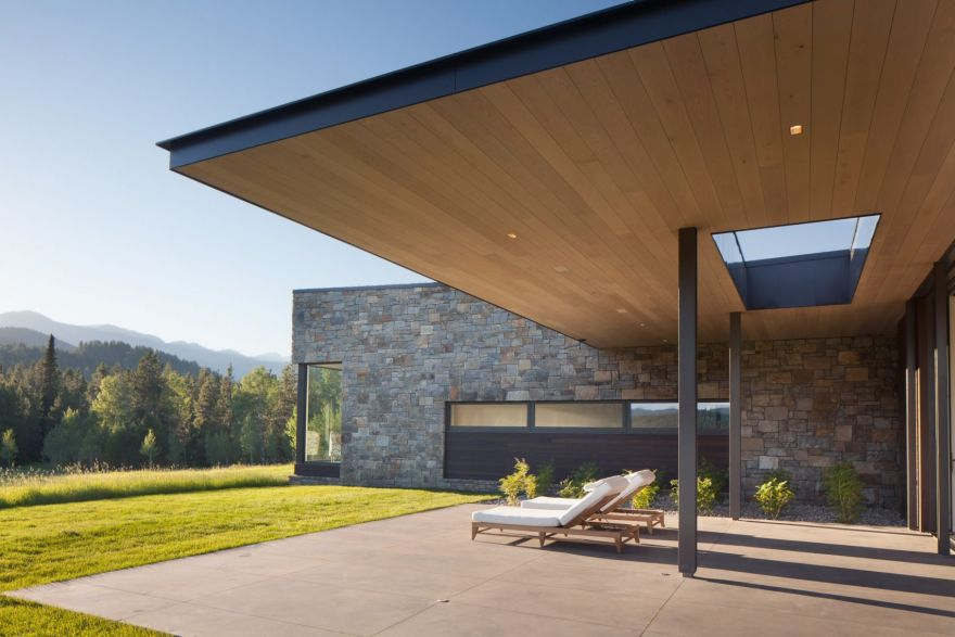 contemporary mountain house