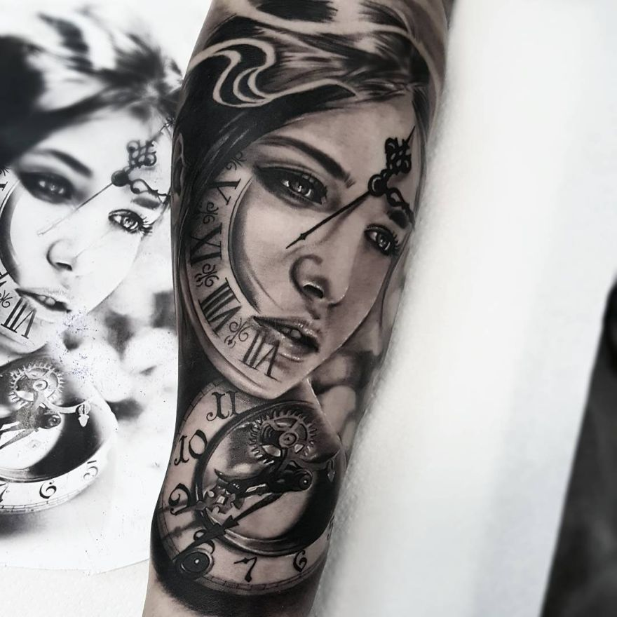 Realistic Tattoos With Morphing Effects By Benji Roketlauncha