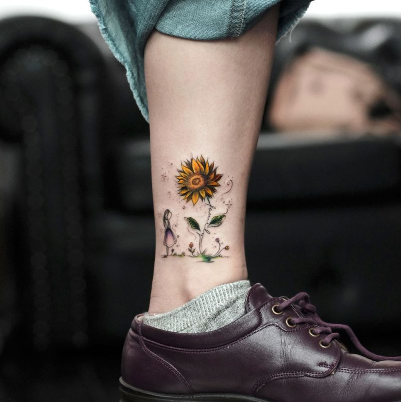 awesome sunflower tattoo ideas