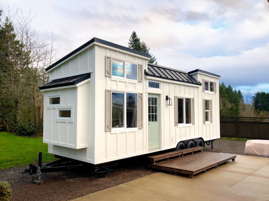 tiny trailer home
