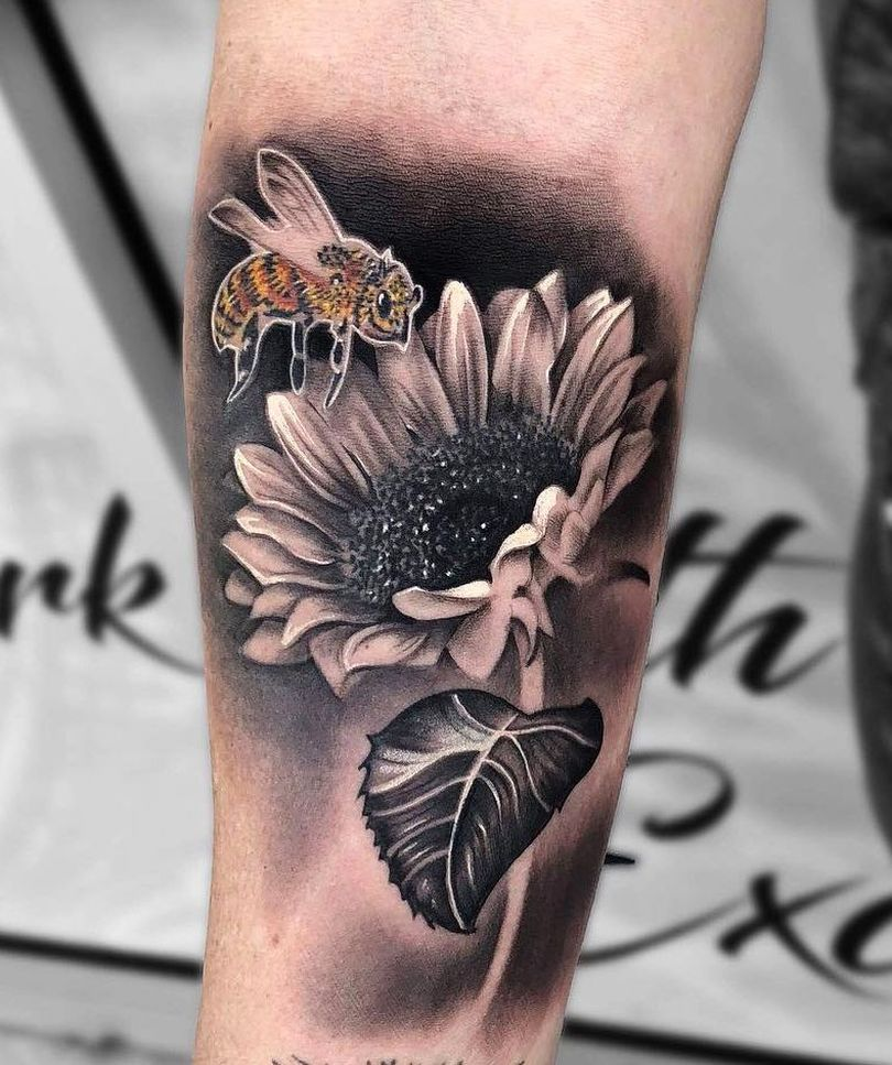 creative sunflower tattoos