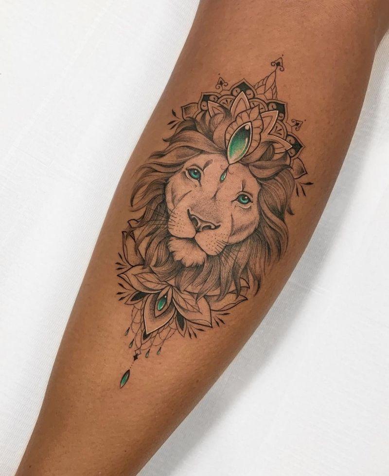 ornamental lion tattoos