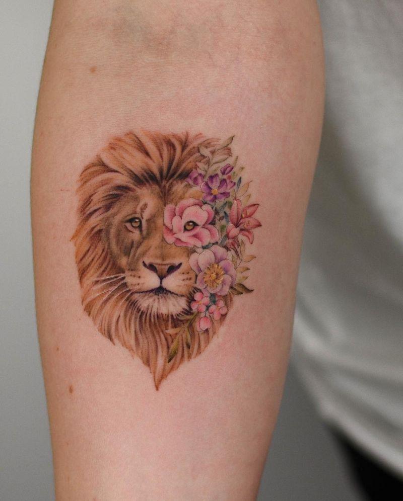 lion tattoos for women