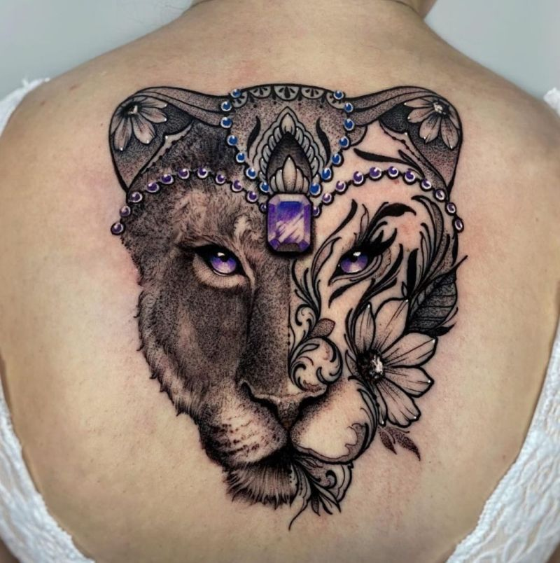 lioness tattoos for girls