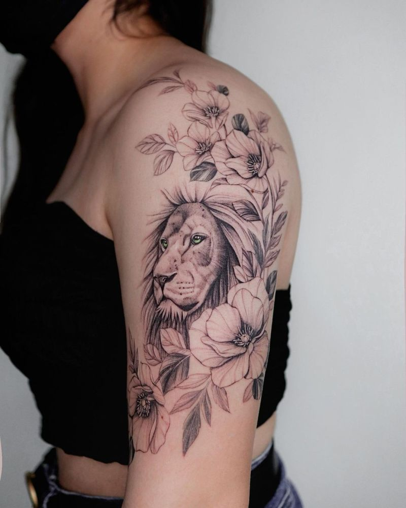 lion tattoos for girls