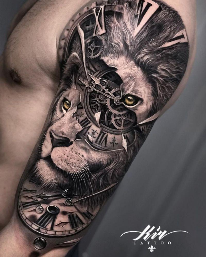 amazing lion tattoos