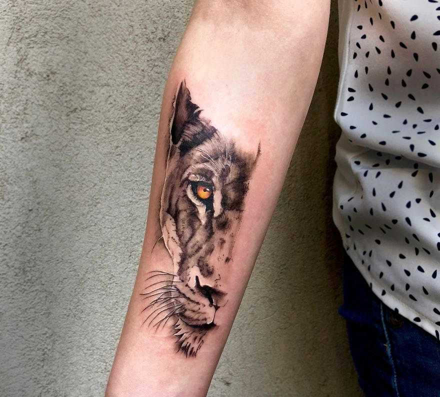 64236a912 50 Eye-Catching Lion Tattoos That'll Make You Want To Get Inked ...