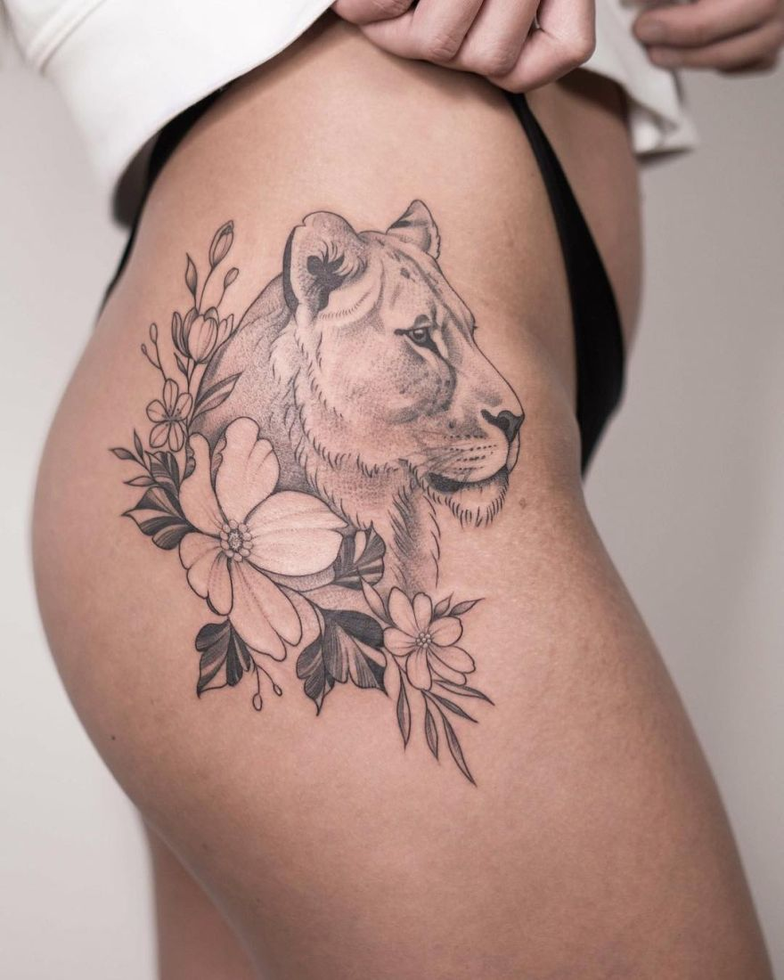 lioness tattoo ideas