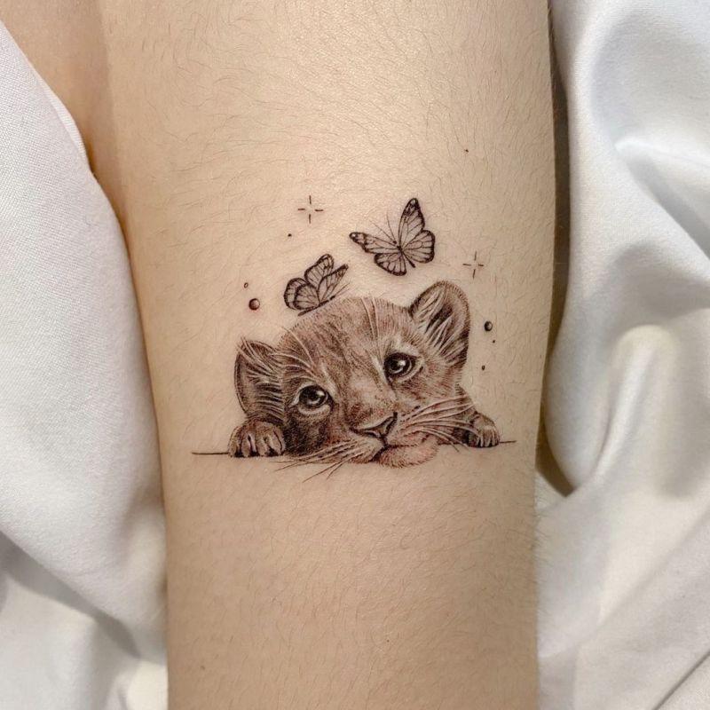 lion cub tattoos