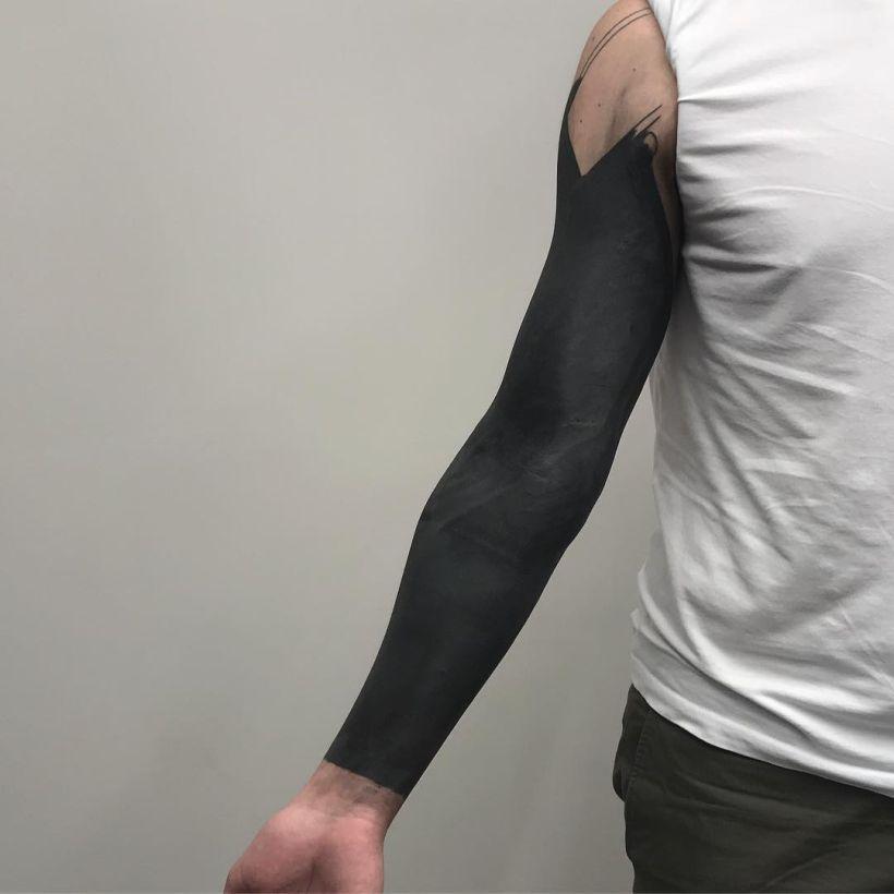 blackout tattoo ideas for men