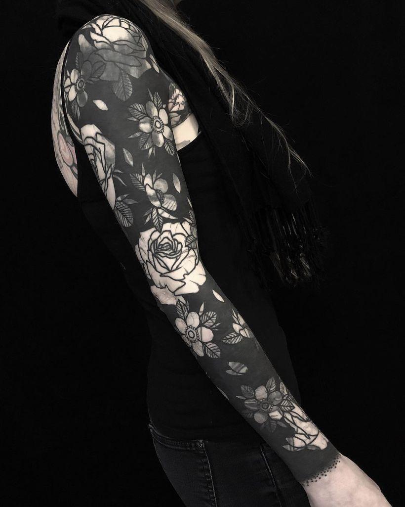 blackout tattoo ideas for women