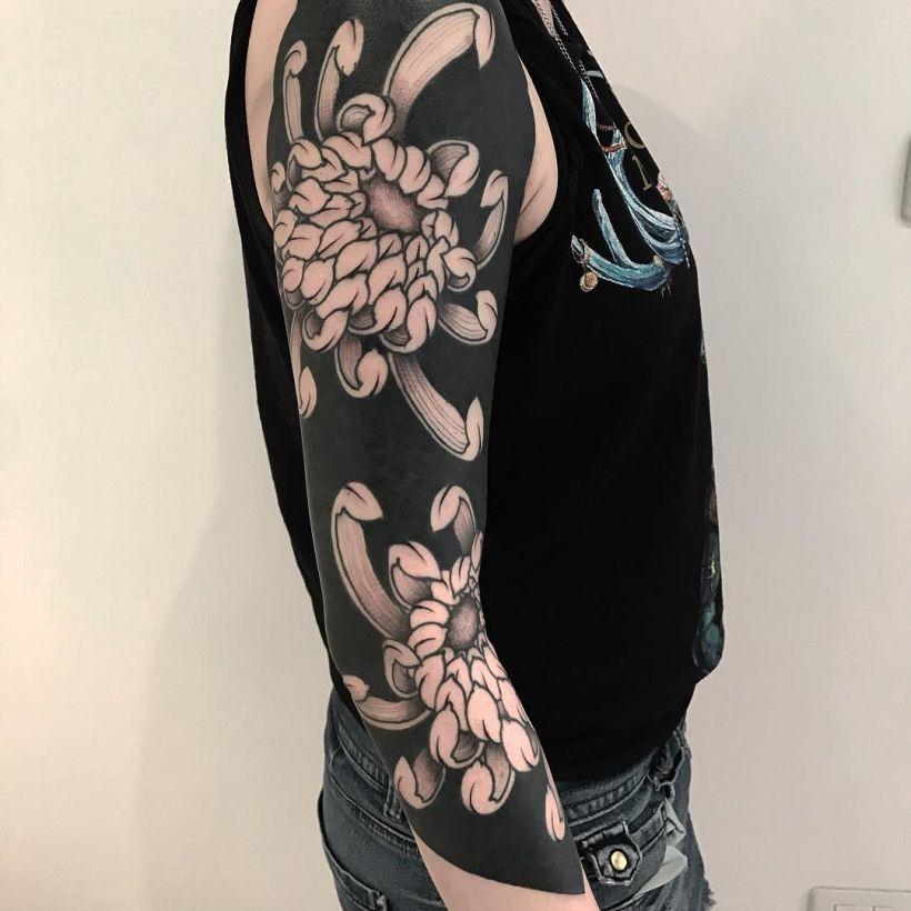 cool blackout tattoos