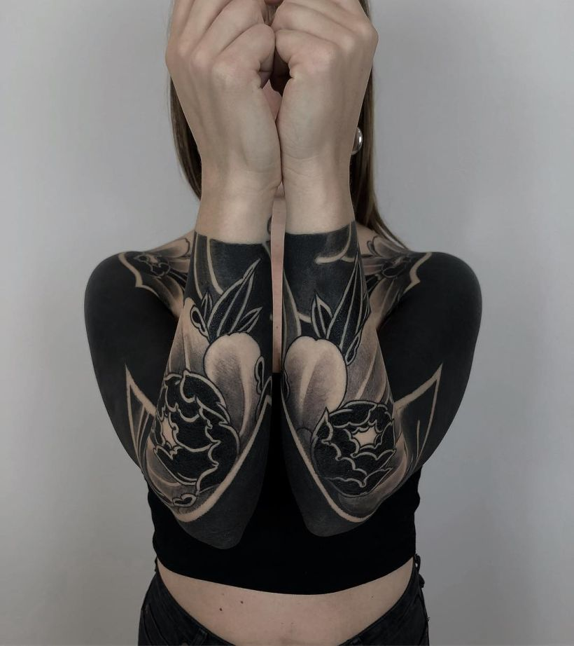 solid black tattoos