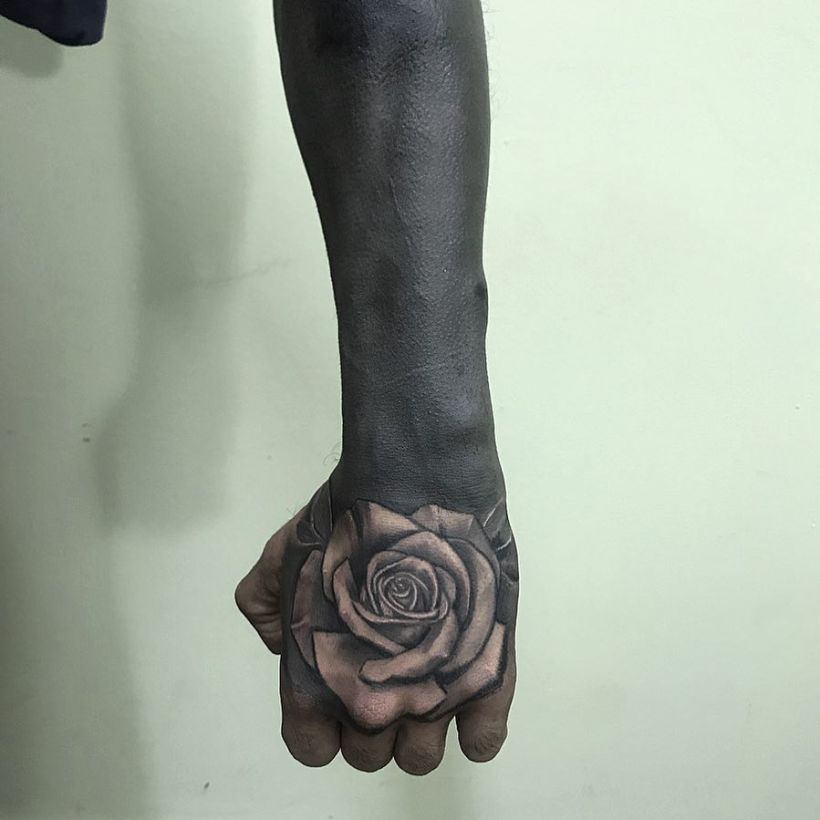 solid black tattoo designs