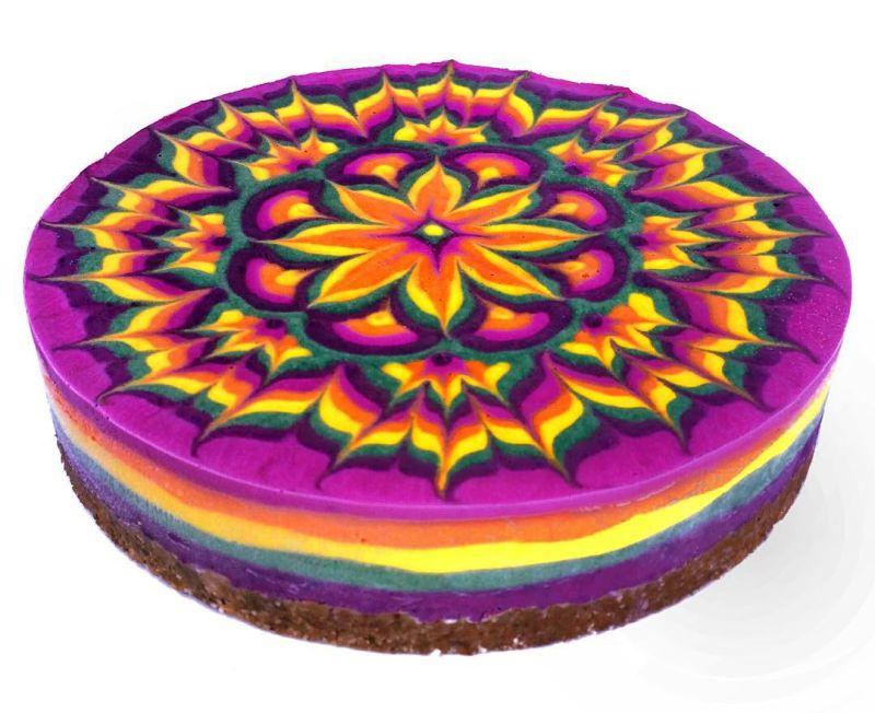vegan mandala cakes