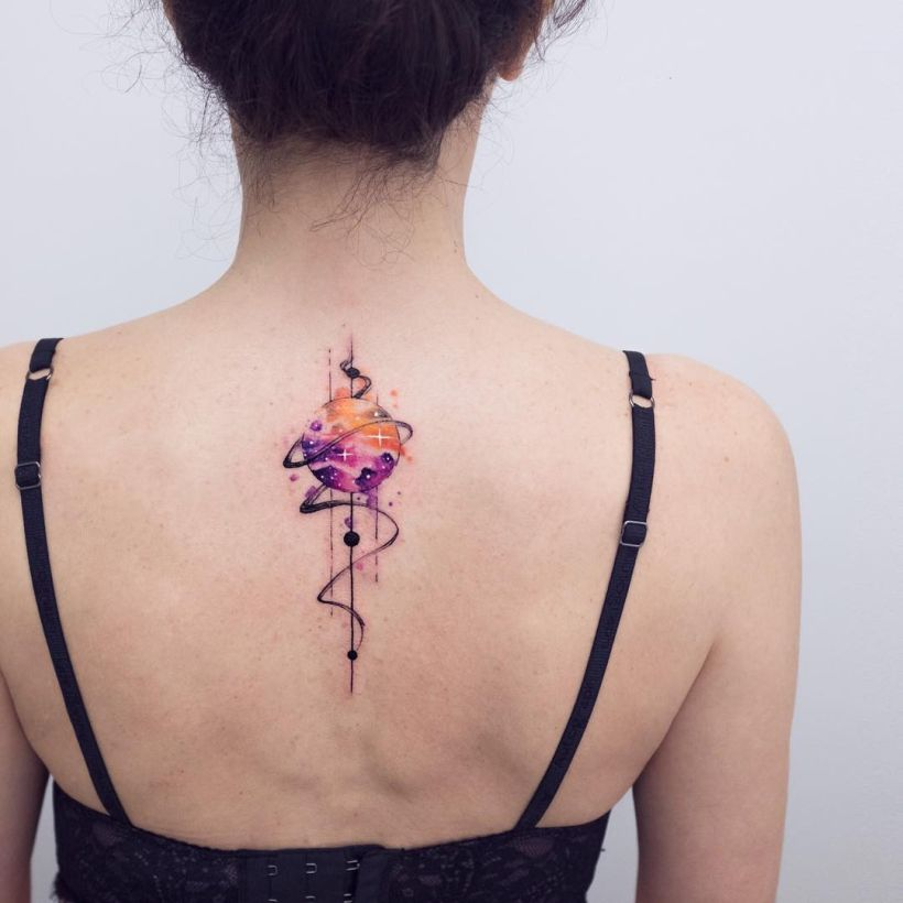 abstract watercolor tattoo Koray Karagözler