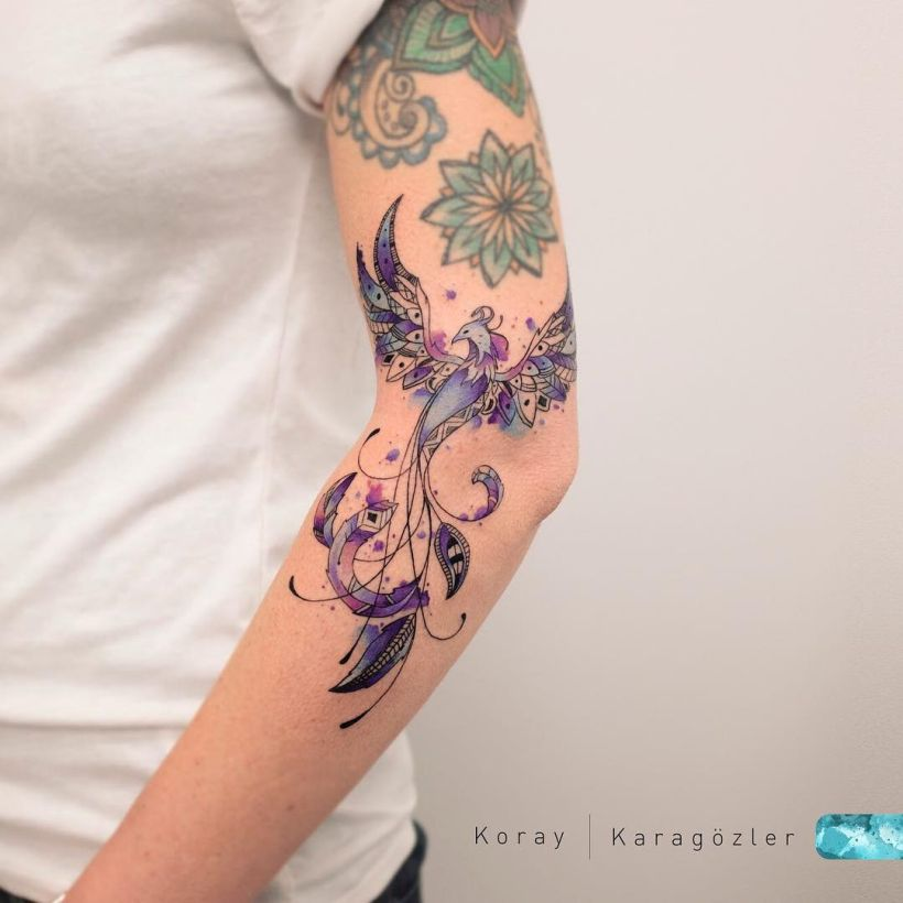 jaw-dropping Phoenix tattoo