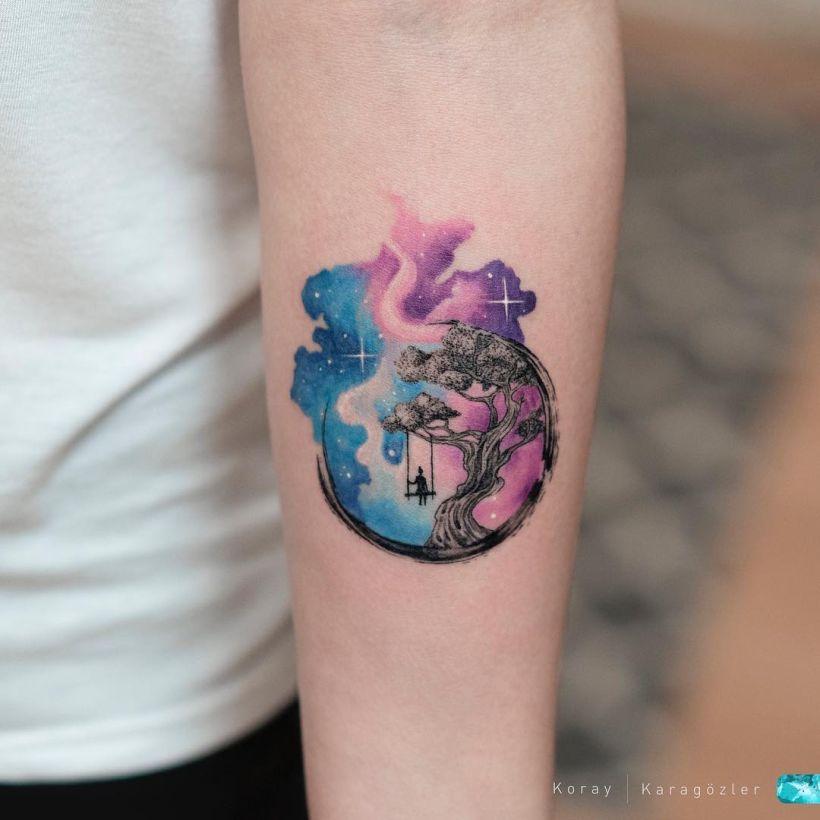 galaxy tattoo Koray Karagözler