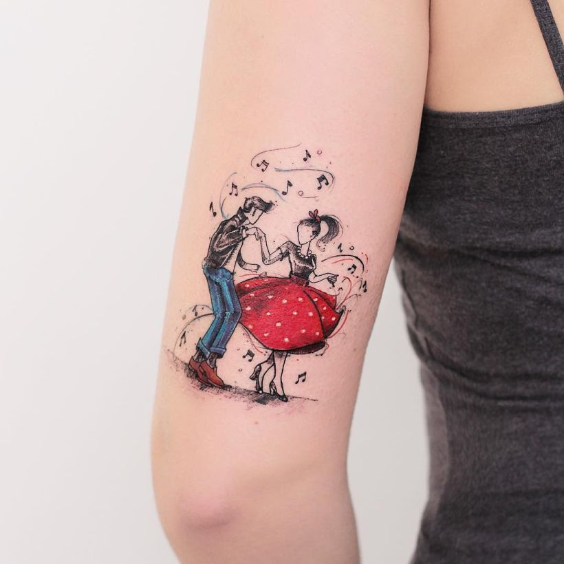 magical illustrative tattoo by Robson Carvalho