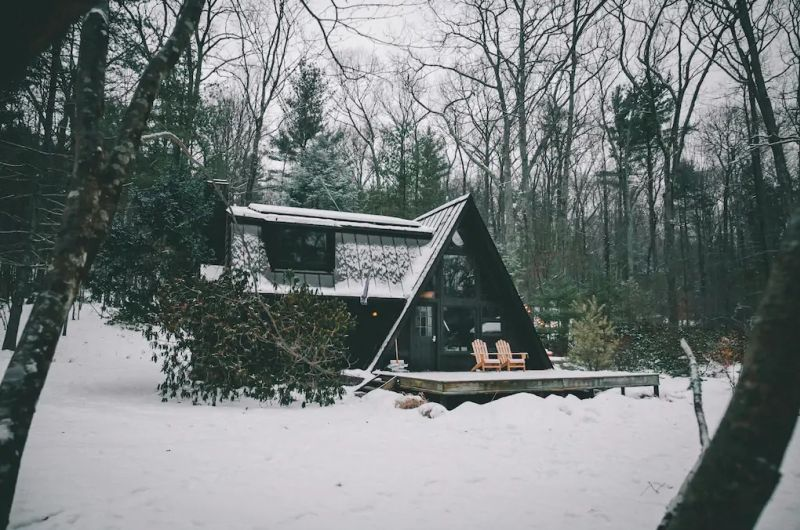A-frame cabin for rent