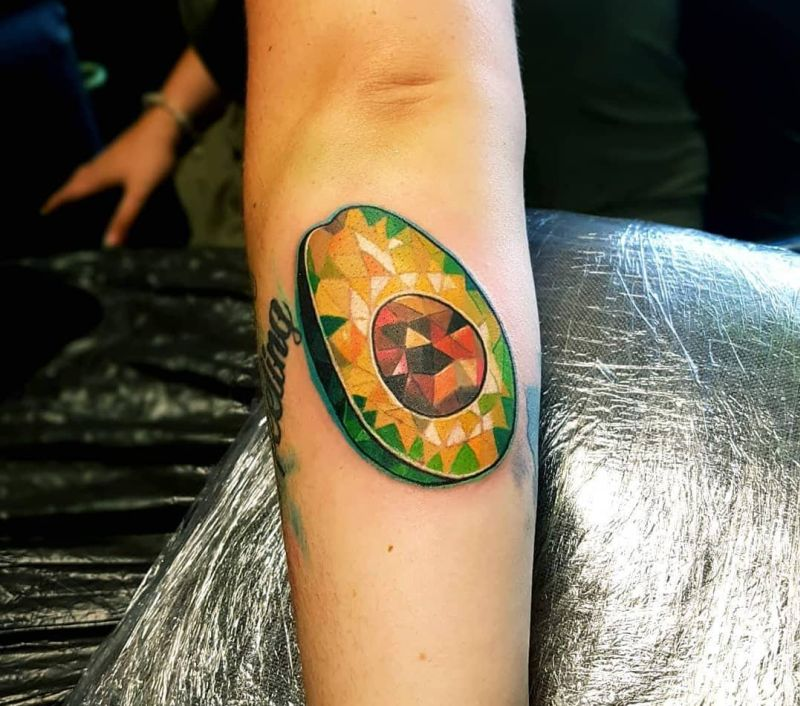 creative avocado tattoos