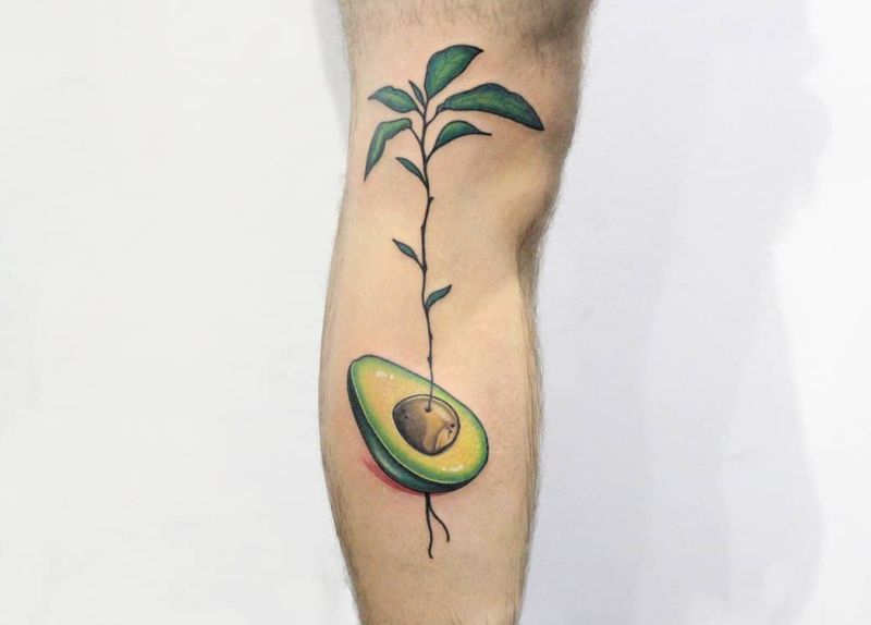 cute avocado tattoos