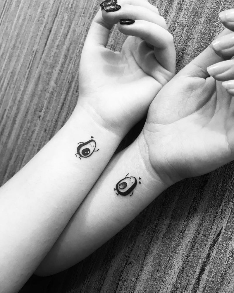 avocado couple tattoo