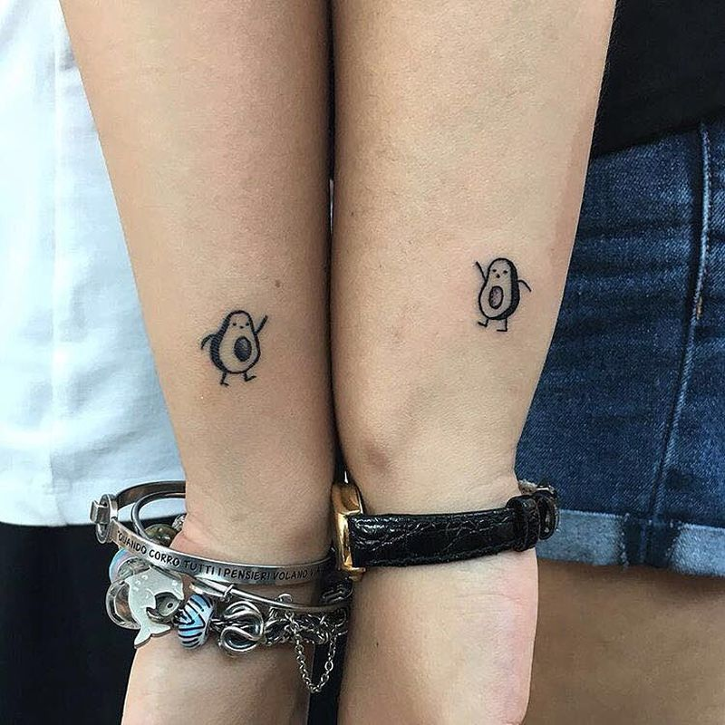 avocado couple tattoos