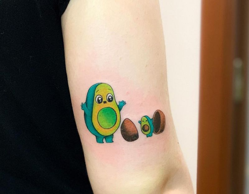 super cute avocado tattoos