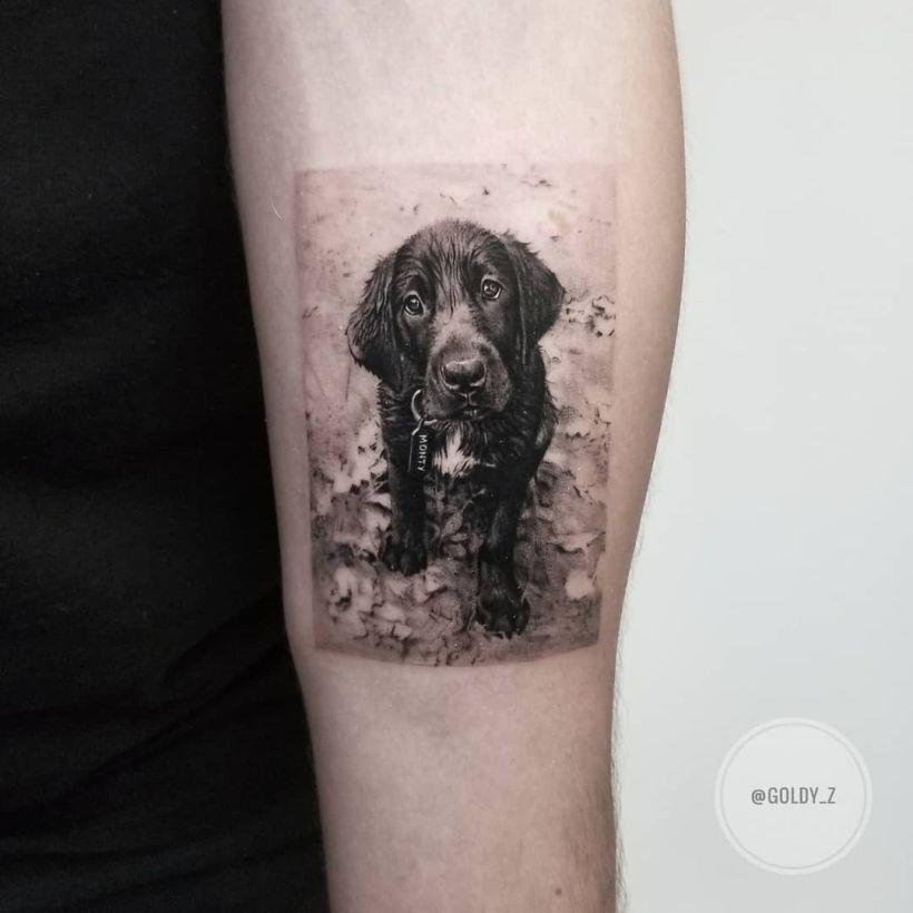 cute dog tattoo Zlata Kolomoyskaya