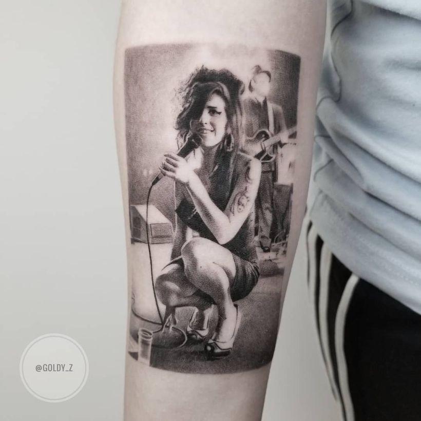 Amy Winehouse tattoo