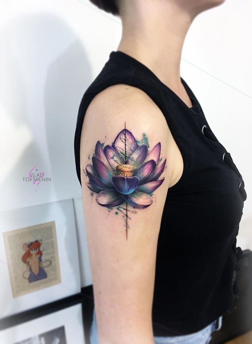 floral tattoo for girls