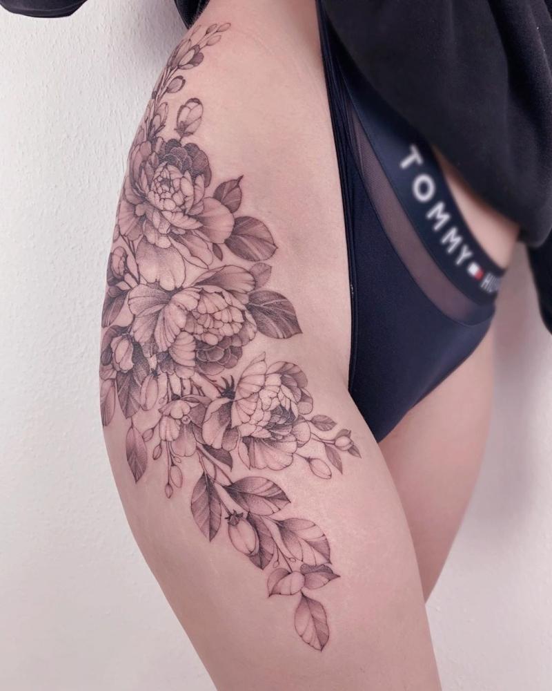 floral ink piece