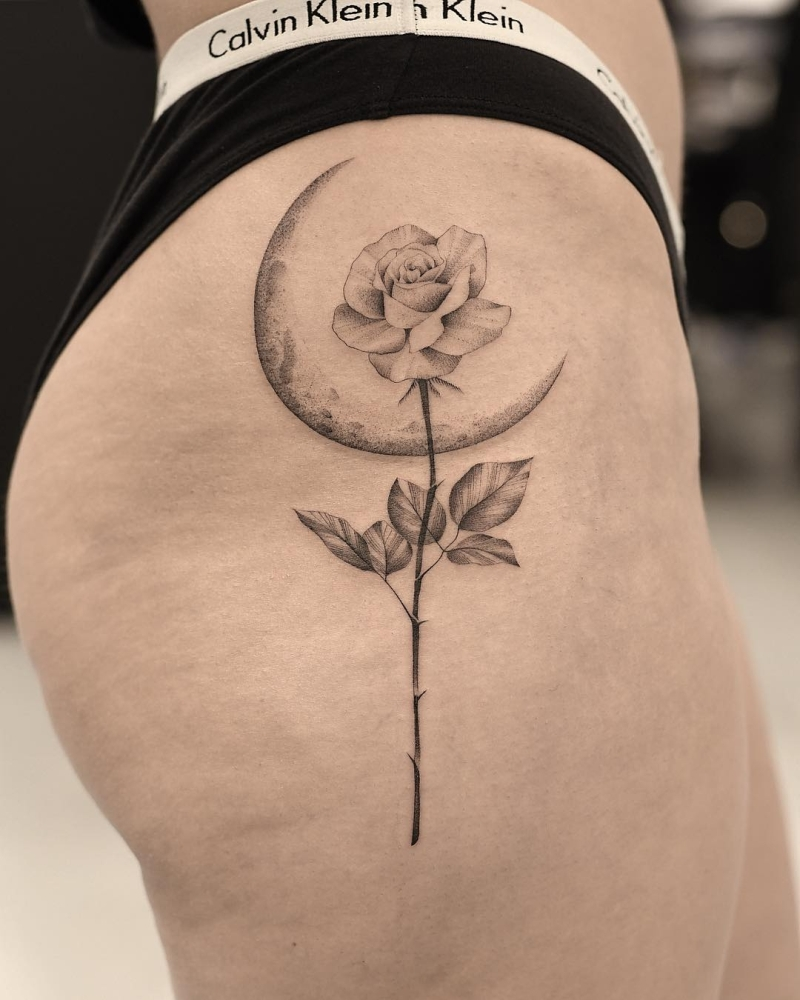 cool floral ink piece