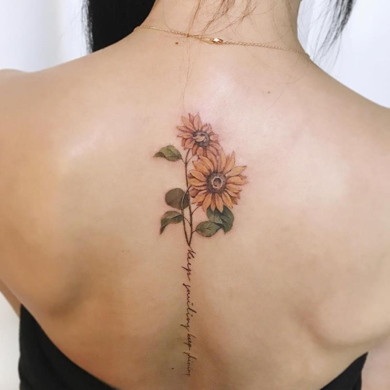 spine floral ink